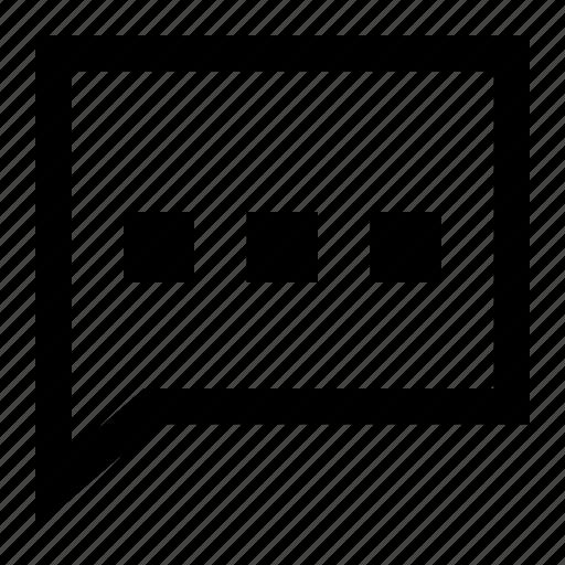 Chat, comment, message, bubble, conversation, speech, talk icon - Download on Iconfinder