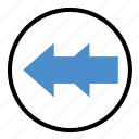 arrow, backward, direction, previous, rewind icon