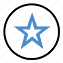 bookmark, favorite, line, shape, star, start icon