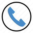 call, contact, phone, ringing, talk, telephone icon