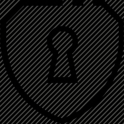 access, lock, password, protection, shield, unlock icon