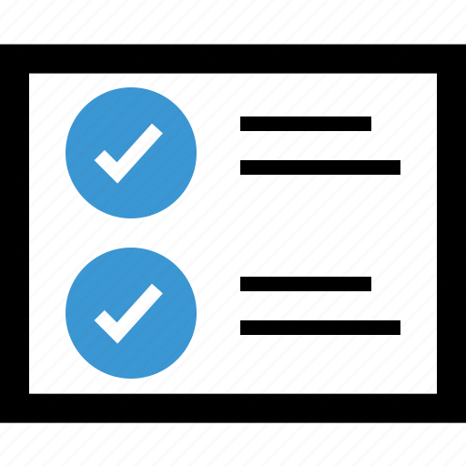 approved, check, good, list, mark icon