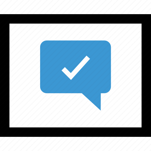 check, conversation, good, mark, talk icon