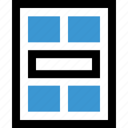 gallery, grid, photo icon