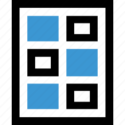 gallery, grid, photo, wireframe icon