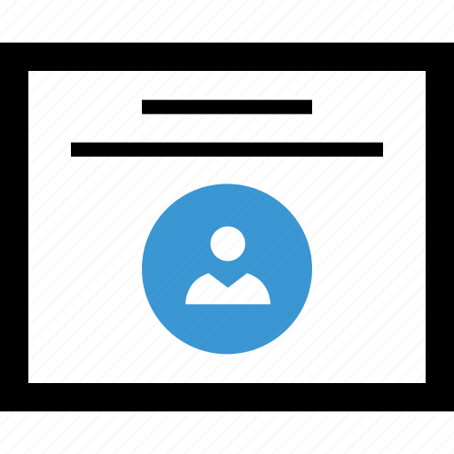 description, internet, online, user icon