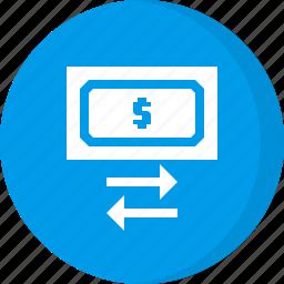 exchange, finance, money, money exchange icon