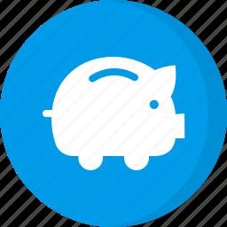 deposit, dollar, finance, financial, money, piggy bank, savings icon