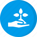 ecology, environment, farming, give, plant, sapling, sprout icon