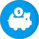 coin, deposit, dollar, finance, money, piggy bank, savings icon