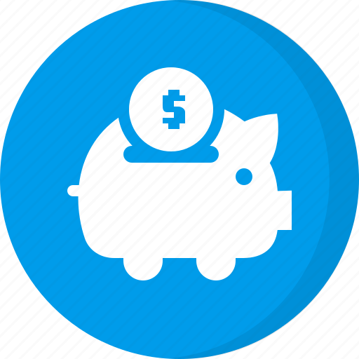 coin, deposit, dollar, finance, money, piggy bank, savings icon