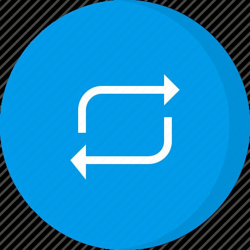arrows, loop, multimedia, repeat icon