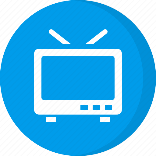 multimedia, old, television icon