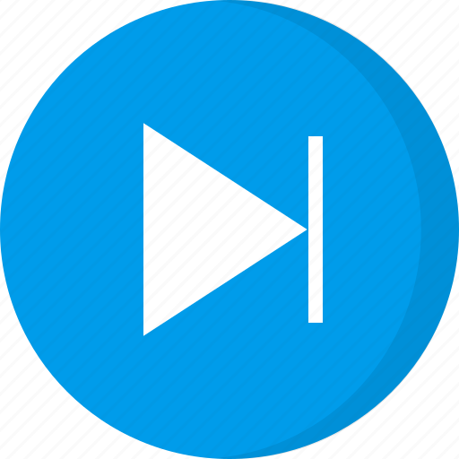 arrow, control, multimedia, next button, next icon, next song, play next icon