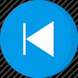 control, multimedia, player, previous, previous song icon