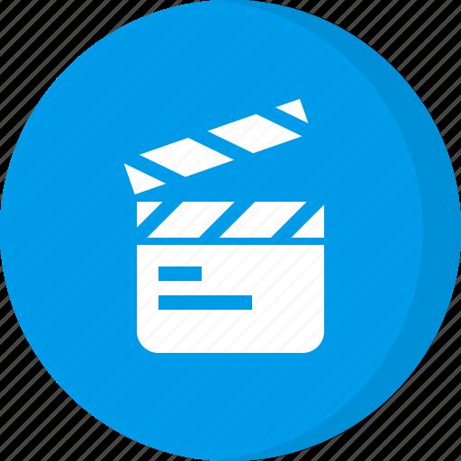 cinema, clapperboard, film, movie, multimedia, scene, video icon
