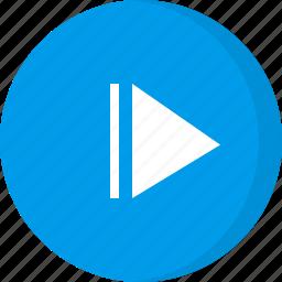 fast forward, forward, multimedia, music, next, step forward, video icon