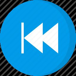 backwards, multimedia, previous, rewind icon