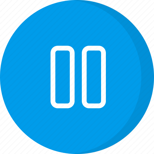 multimedia, pause, pause music, pause video, paused icon