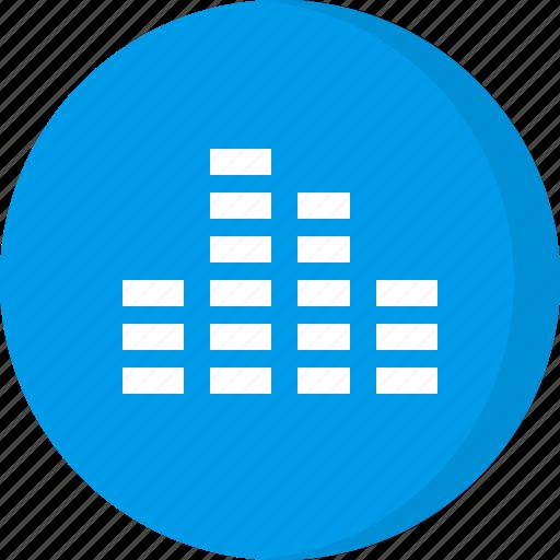 audio, equalization, equalizer, multimedia, music, sound icon