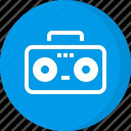 boom box, communication, multimedia, music, recorder, stereo, tape icon