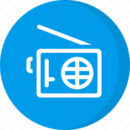 fm radio, multimedia, radio, radio station icon