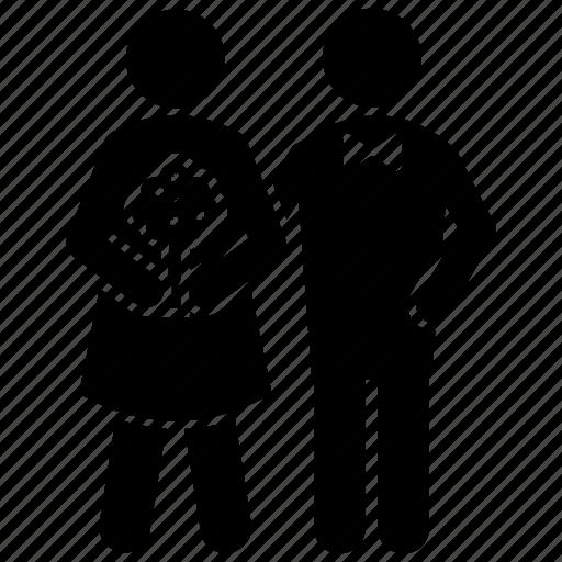 couple, couple reception, husband wife, life partner, loving couple icon
