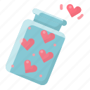 heart, hearts, jar, love, of, spread, valentine