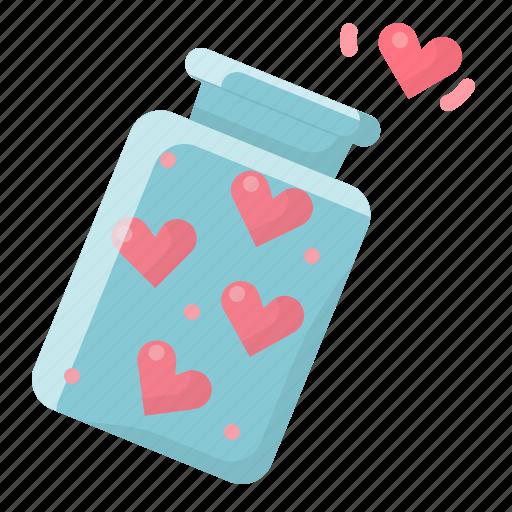 heart, hearts, jar, love, of, spread, valentine icon