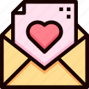 email, heart, invitation, letter, love, mail, wedding icon