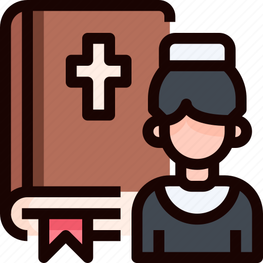 bible, book, priest, wedding icon