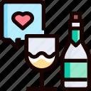 bottle, champagne, drink, heart, love, party