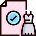 document, dress, invitation, invite, wedding icon