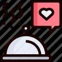food, heart, love, restaurant, wedding icon