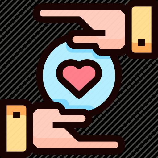 Hand, heart, love, wedding icon - Download on Iconfinder