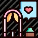altar, event, heart, love, wedding