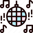 disco, music, party, song icon