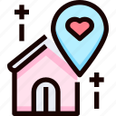 heart, home, location, love, place