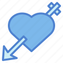 arrow, cupid, hearts, love icon