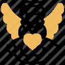 angel, cupid, girl, love, wings icon