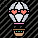 air, balloon, flight, hot, travel icon