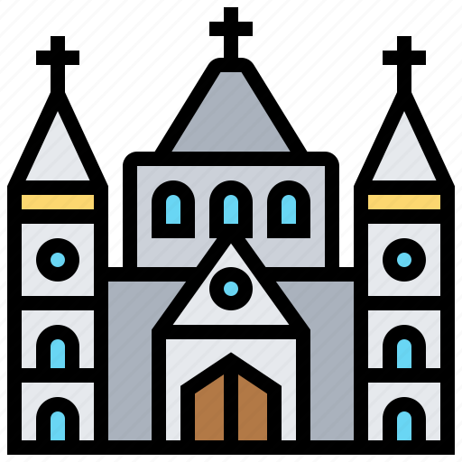 building, cathedral, christian, church, religion icon