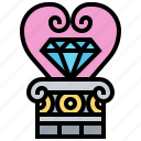 decoration, diamond, gift, jewels, value icon