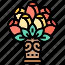bouquet, decoration, floral, flowers, vase