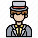 clothes, groom, man, suit, wedding icon