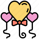 balloons, celebration, decoration, heart, party icon