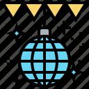 ball, dancing, disco, party, sparkle icon
