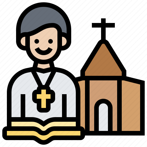 bible, christian, church, priest, religion icon