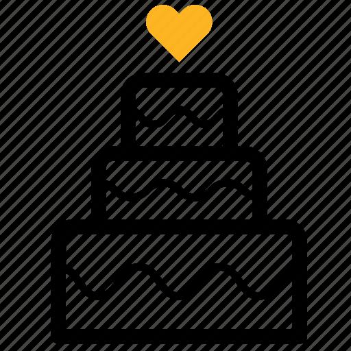 cake, marriage, marry, wedding icon