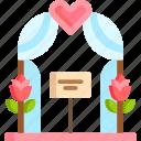 arch, marriage, romance, romantic, wedding